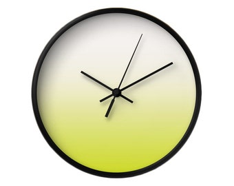 Chartreuse gradient wall clock Housewarming gift Chartreuse clock Chartreuse wall clock Chartreuse green wall clock Chartreuse green clock