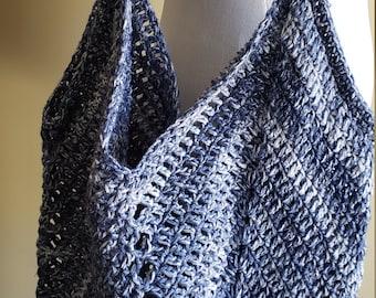 Denim color crochet bag