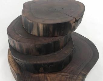 Rustic Walnut Rounds