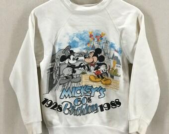 Vintage 1988 Mickey Mouse's 60th Birthday Disney Crewneck Sweatshirt Fits like an XS/S