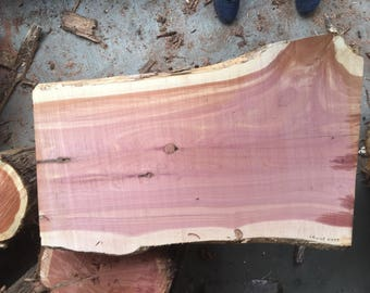 "Large Cedar Plank, rough sawn, wood slab, 27"" long, 1"" to 2"" thick, 16"" to 20"" widths, cedar wood diy, hanging shelf, woodworking products"