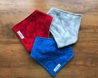 Special needs bandana bibs, Patriotic Collection 3 pack