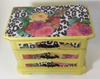 Upcycled Decopauged Vintage Jewelry Box