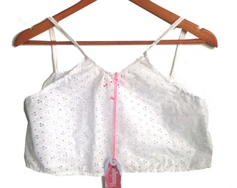 White Broderie Anglais Crop Camisole