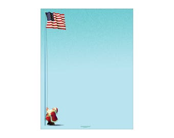 Holiday Stationery - Patrioitic Holiday Letterhead -8.5 x 11 inches - 80 Paper Sheets - 6503