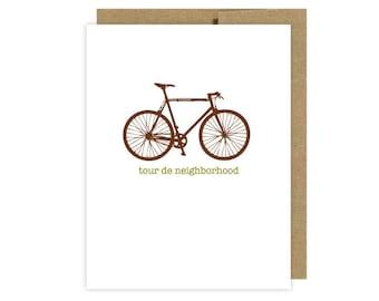 Tour de Neighborhood Bike Card