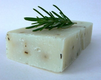 Lavender Rosemary Soap, Great for oily skin, Vegan Olive Oil Soap, Rich Green Castile Soap