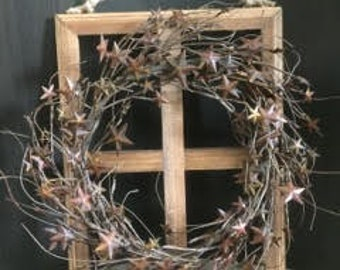 Window Pane Wreath