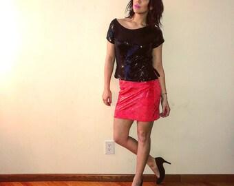 Emma Black mini skirt