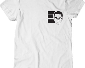 Logic Shirt - Everybody Small Left Chest -  White with Black Print