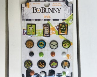 BoBunny Brads, Fright Delight planner, scrapbook, card making, art journaling, mixed media, fasteners