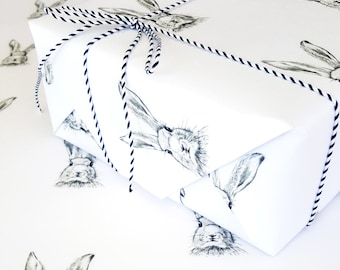 WRAPPING PAPER/Easter Wrapping/BUNNY Wrap/HandDrawn