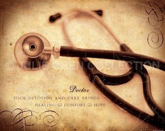 Doctor Gift - Doctor Art - Doctor Keepsake - Doctor Thank You Gift - Doctor's Office Decor - Hospital Decor - Inspirational Wall Art - Job