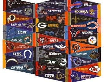 "NFL Mini Pennant Set (All 32 teams), 4"" x 9"""