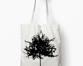 Tree tote bag, canvas tote bag, canvas tote