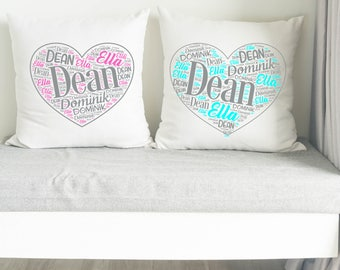 Personalized Pillow/Name toss design/Mother's day gift/gift for mom/Valentines gift/Monogrammed pillow/free shipping