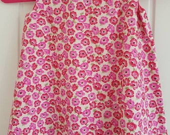 Deep Pink Flower Girls Pinafore Dress Age 1 year