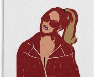 Beyonce Paper Drink Coasters