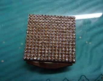 Rhinestone Powder Mirror Compact
