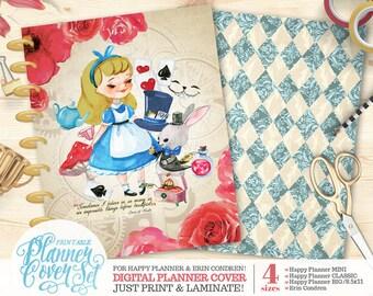 "Printable Planner/Binder Cover SET - ""Wonderland"" | Happy Planner | Erin Condren | U.S. Letter Binder | Instant Download"