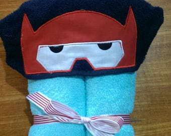 Red Helmet Hooded Towel, Towel with Hood