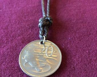 Australian platypus coin necklace