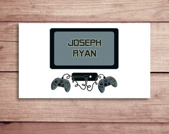 Video Game Calling Cards - Video Game Gift Tags - Party Tags - Favor Tags - Custom Gift Cards - Personalized Gift Tags