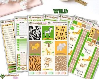 Animals | Safari | Zoo | Wild | weekly kit | planner stickers