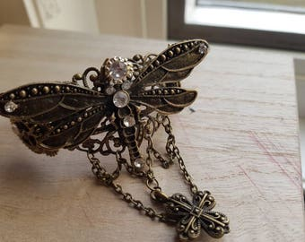 Steampunk/Gothic/Burlesque/Dragonfly Summer Cuff