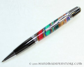 SUPERSTRATA acrylic pen with Gun Metal and Chrome in Wall Street style
