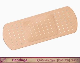 bandage clipart, medical clip art, band aid  illustration, scrapbooking, commercial use, digital instant download, jpg png 300dpi