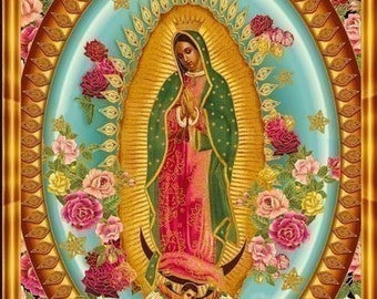 Our Lady of Guadalupe Fabric-  4 panels