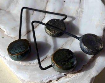 Double Disc Dangles -Bronze and Idaho