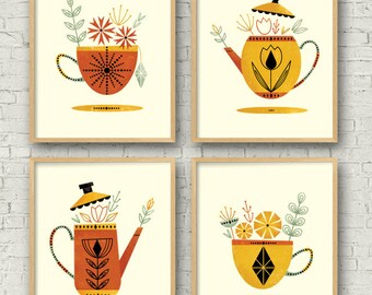 Tea for Two (Set of 4 Prints) by Amber Leaders 8x10 for Taunie