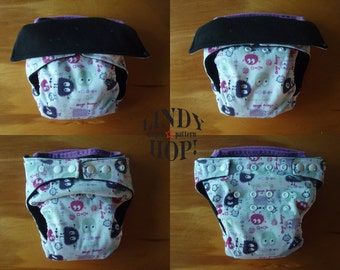 Lindy Hop One-Size Pocket Diaper Pattern PDF