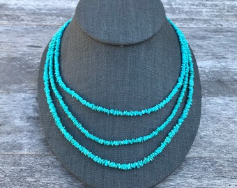 Sleeping Beauty Mine: Turquoise Beaded Ropes (choose length)