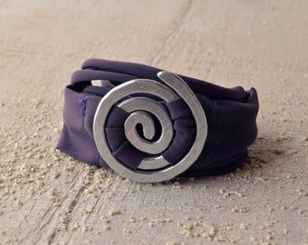 Bracelet Spiral one size bracelet and necklace all in one lycra cuff bracelet lycra bracelet long lycra ribbon vortex two in one stretch