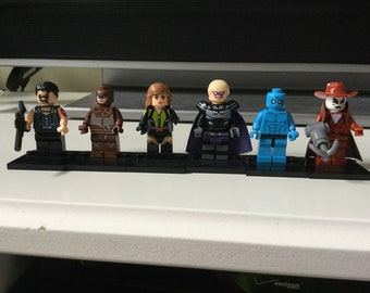 Watchmen Custom made Lego inspired Minifigures Collection DC Comics Comedian Night Owl Silk Spectre Rorschach Dr. Manhattan Ozymandias toy