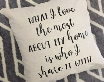 What I Love... Burlap Envelope Pillow Cover/ Pillow Cover/ Burlap Pillow Cover/Linen Pillow Cover