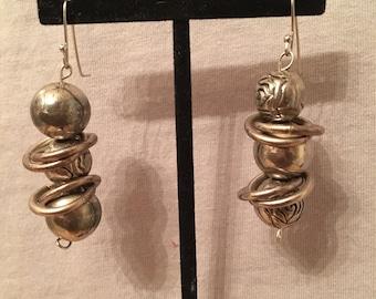 Recyled metal earrings