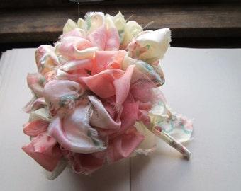 Vintage Fabric Bouquet * Vintage Weddings * Shabby Chic Flowers * OOAK Bouquets * Handmade Weddings * Unique Brides and Bridesmaids * Flower