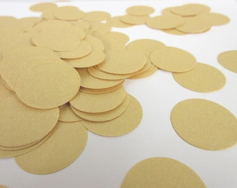 "Gold Confetti Party Decor- Baby Shower Decor, Wedding Confetti, die cut circles, birthday party decor 1"" circle size"