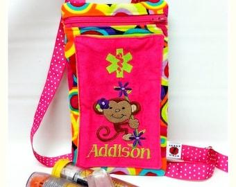 Custom Inhaler Case / Medicine Pack / Epi-Pen Case /  Alert Purse by Alert Wear