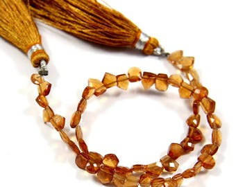 Natural Hessonite Garnet Gemstone,Faceted Fancy Beads,Wire Wrappped Making Jewelery,Gemstone Size 4-4.5 mm,Full 1 Strands X 8 inches,BL-41