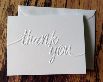 Thank You Cards Set of 5 Wedding Thank You Cards Graduation