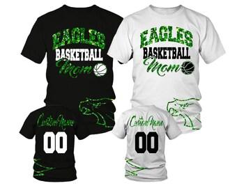 Custom Basketball Mom Shirt w/ Any Team and Mascot. Custom Mascot Shirt