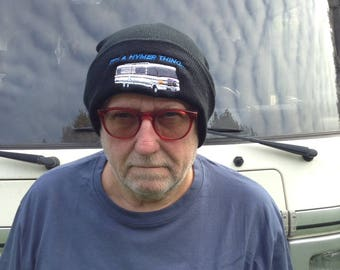Fiat IT'S A HYMER THING... Beanie Hat For The Discerning Hymer Lover in Black