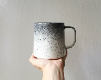 NEW! The Danish Mug in Appaloosa | Modern Ceramic Vase | Danish Design | Scandinavian | Grey and White | Ombre | Modern | Horses