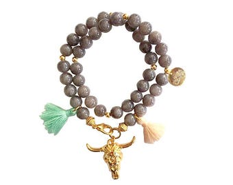 hippie bracelet purple boho bohemian peace pear warpbracelet hippiejewellry gypsy armcandy festival naturalstonebeads bull