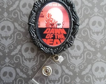 Creature Feature/ Dawn of the Dead/Retro Movie Poster Inspired Badge ID Reel
